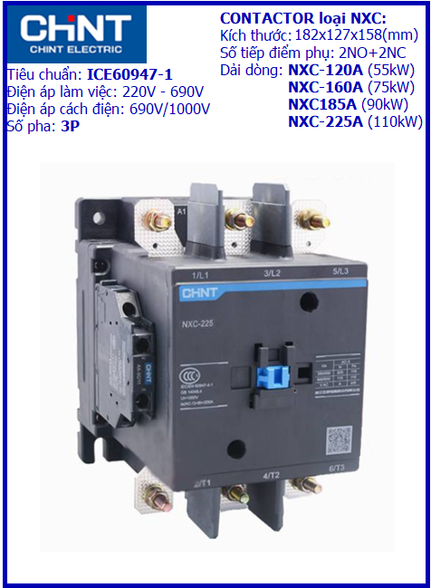 CONTACTOR NXC 3P-185A